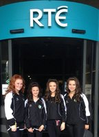 Katie at RTE for anniversary of Riverdance